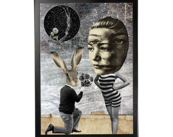 Art print poster collage DADA #6 in A3 (29, 7x42cm)