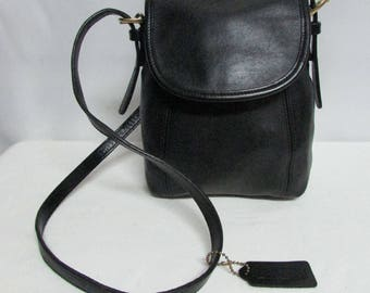 79ce85bf846b ... Bag Vintage Coach Small Black Leather Flap Cross Body Shoulder Purse  Handbag VINTAGE COACH BLACK PATRICIAS PATRICIA ...