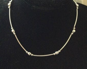 Silver Tone Choker Necklace [SKU351]