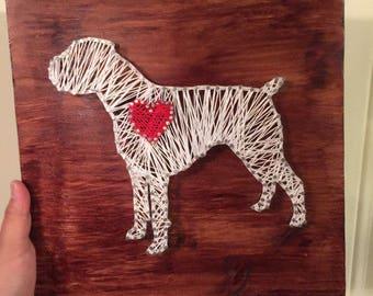 Boxer Man's Best Friend String Art Dog Filled