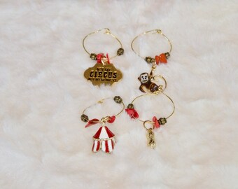 Not My Circus Wine Charms