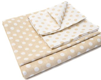 Linen Bed Set Polka Dot 150 x 210, 50 x 70