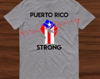 Puerto Rico Strong, Puerto Rico Shirt, Hurricane Maria Shirt. We will rebuild