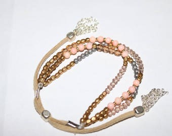 Peach bead bracelet