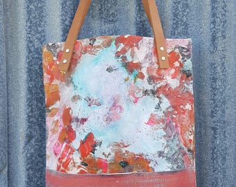 Hand painted Canvas Tote 002