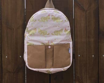 Handmade Backpack in fabrics and anti-spot material, to toddler, mum, nursery, school