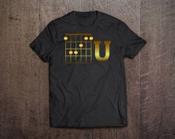 guitarists tshirt | guitar gifts for men | guitar gifts for her | funny guitar shirt | guitar gift ideas | guitar gifts for him | F Chord U