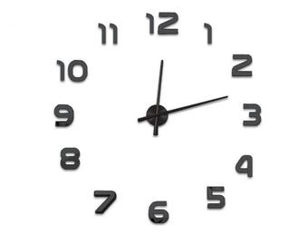DIY Wall Clock 3D XXL 70cm-130cm Large Wall Clock Kit Stickers Home Art Modern