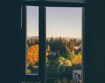 Vancouver BC Sunrise, Canada Travel Photograph, Landscape Print