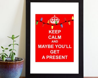 Printable Keep Calm Sign, Printable Holiday Sign, Keep Calm, Instant Download
