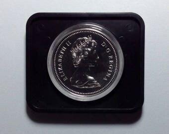 Canada 1 dollar 1976 elizabeth II ottawa parlimentary library silver