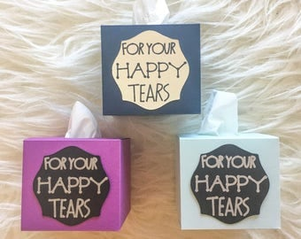 Happy Tears Mini Tissue Box