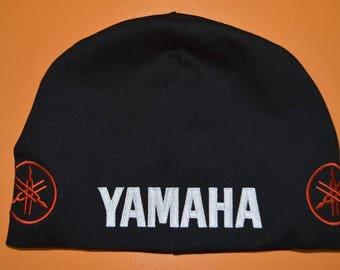 Yamaha beanie hat skull biker moto apparel