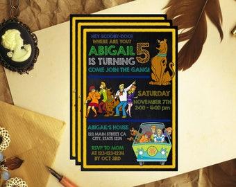 Scooby Doo Invitation, Scooby Doo Birthday, Scooby Doo Invite, Scooby Doo Party, Scooby Doo Birthday Invite, Scooby Doo Party Invite, F1119