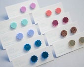 Star studs   12mm   Laser cut acrylic earring   Choose colour