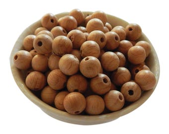 12mm Beech Wooden Bead | Round | European Beech | Natural Wood | Eco-Friendly | Unfinished | Non-Toxic