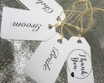 Small gift tags with personalised names