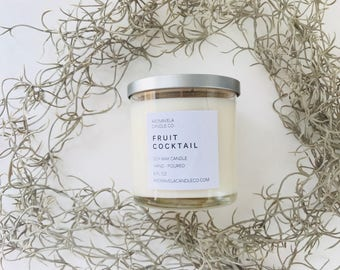 FRUIT COCKTAIL soy wax candle soy candle AromaVela Candle Co