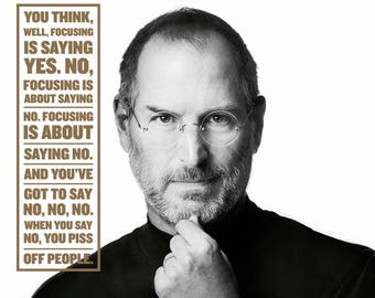 Steve Jobs / Inspirational 8 x 10 / 8x10 GLOSSY Photo Picture