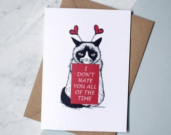 Grumpy cat card  Etsy