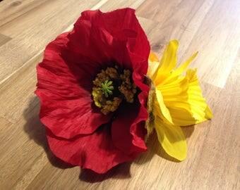 Giant poppy spring hair flower