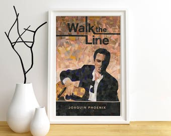 Walk the Line Movie Poster Collage Print