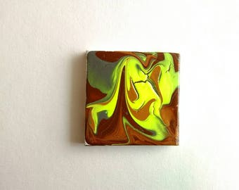 Mini Abstract Painting | Canvas Art | Tiny Art | Original Art | Decor | Modern Art | Painting | Small Art | Abstract Art | Miniature Art