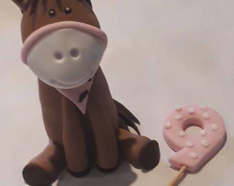 Edible horse cake topper
