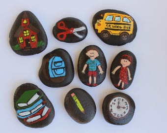 School Themed Story Stones