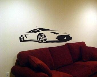 Wall Decal Mural Lamborghini Gallardo Car Vinyl Decals Art 8