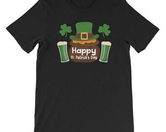 St Patricks Day Shirt Men Women Happy Irish Beer Drinking