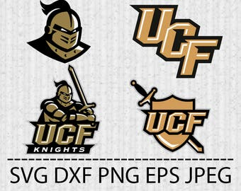 SVG Central Florida Knights Logo Vector Layered Cut File Silhouette Cameo Cricut Design Template Stencil Vinyl Decal Tshirt Transfer Iron on