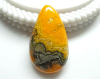 Bumble Bee Jasper Pear Cabochon Size-34x20x6 MM Natural Bumble Bee Jasper, AAA Quality,Loose Gemstone, Smooth Cabochons.