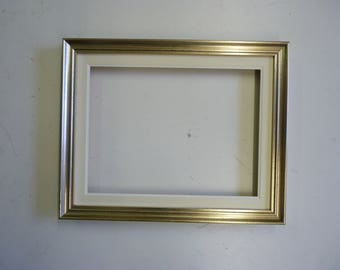 Silver wood frame with wooden mat for oil paintings, mirrors, dimensions cm 30x40