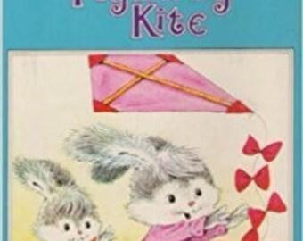 The Flyaway Kite Book 1988 Oversize Hardcover *A Happy Ending Book* Vintage