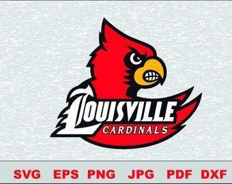 Louisville Cardinals SVG DXF Logo Silhouette  Logo Silhouette Studio Cameo Cricut Design Template Stencil Vinyl Decal Tshirt Transfer