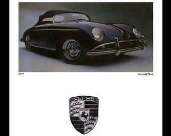 Fairchild Paris Publications Vintage Porsche Framed Print