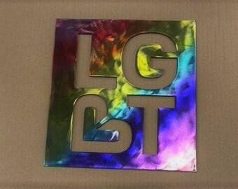 lbgt sign metal art