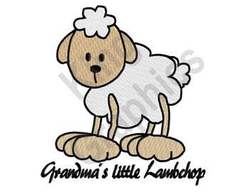 Grandmas Little Lambchop - Machine Embroidery Design, Grandma, Lamb