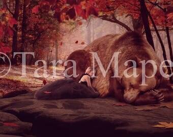 Bear Digital Background -Fall