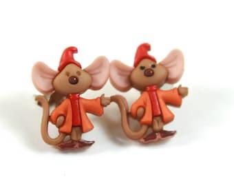 Mouse earrings, Mouse studs, little critter earrings, Cute earrings, Mice studs
