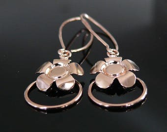Handmade Silver Flowers Earrings, Flowers Jewelry, Silver 925, Christmas Gift, Sexy and Charm Earrings, Dangle Silver Earrings, ER-004