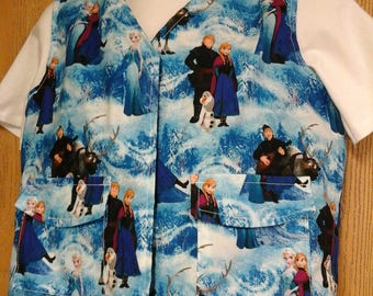 CLEARANCE! Size XS Weighted Vest for Child w/Special Needs and Sensory Issues.  Frozen Friends Print.