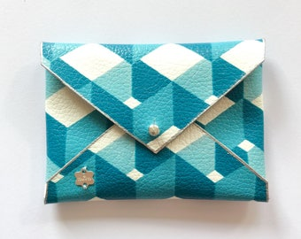 Faux leather wallet clutch