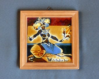Vintage Witch doctor tile from Pilkington