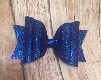 Blue 2 layer Bow