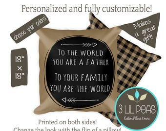 Father Gift, Christmas Gift for Dad, Dad Pillow, Dad Man Cave Gift,Gift for New Dad, To Dad From Children Gift, Man Cave Pillow, Daddy Gift
