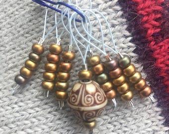 Stockng Stuffers! Set of 7 Knitting Stitch Markers