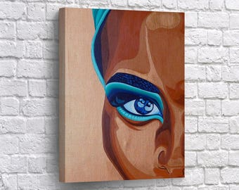 african american wall art canvas print woman beauty half face home decor artwork living room decor