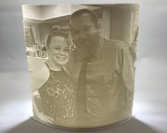 Curved Lithophane Panel